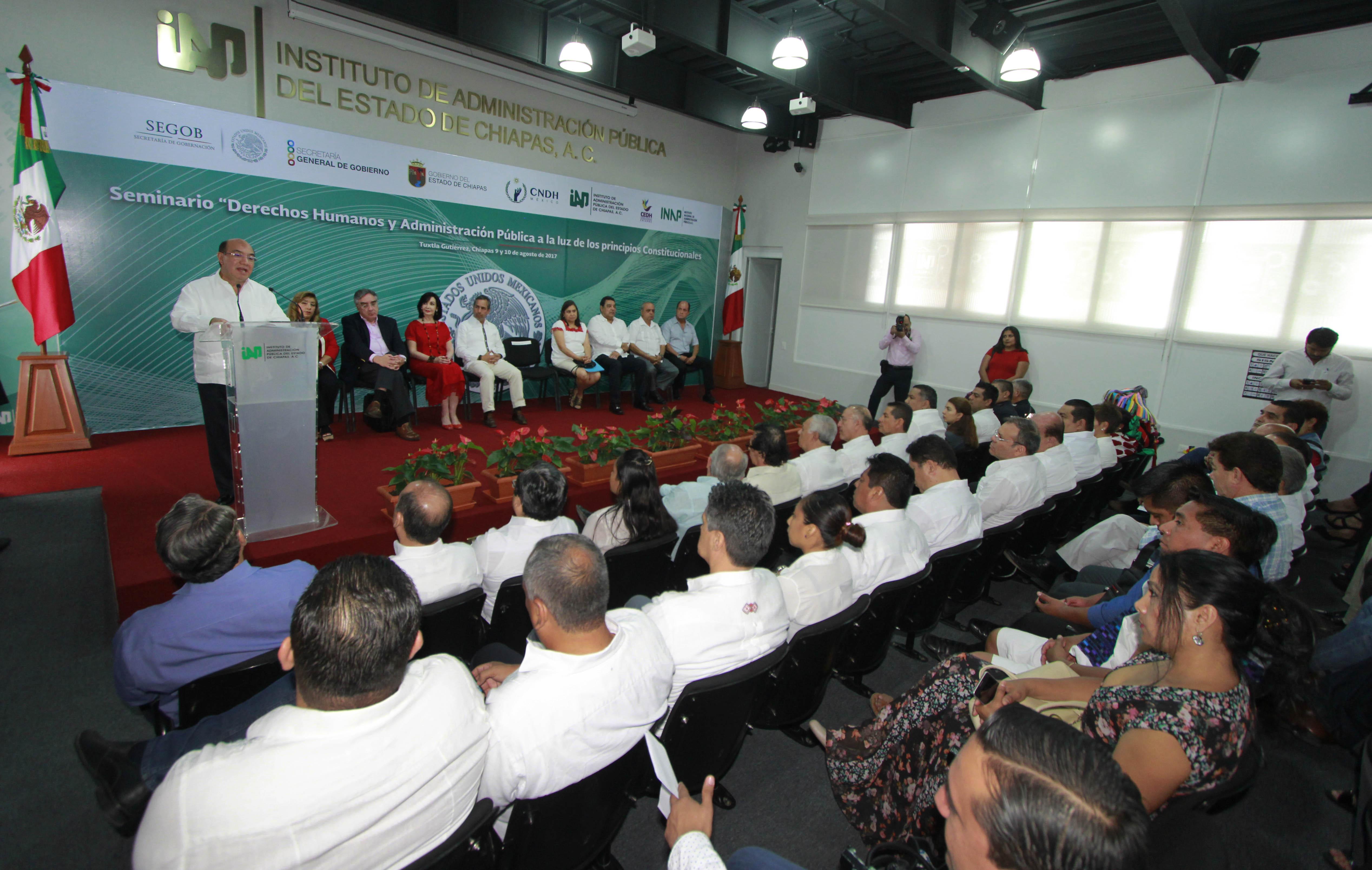Segob y Gobierno de Chiapas fortalecen Derechos Humanos