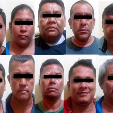 Detiene FGE a 14 por pandillerismo y motín en Huixtla