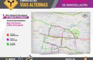 Invitan a tomar vías alternas por tercera etapa de remodelación del bulevar Belisario Domínguez