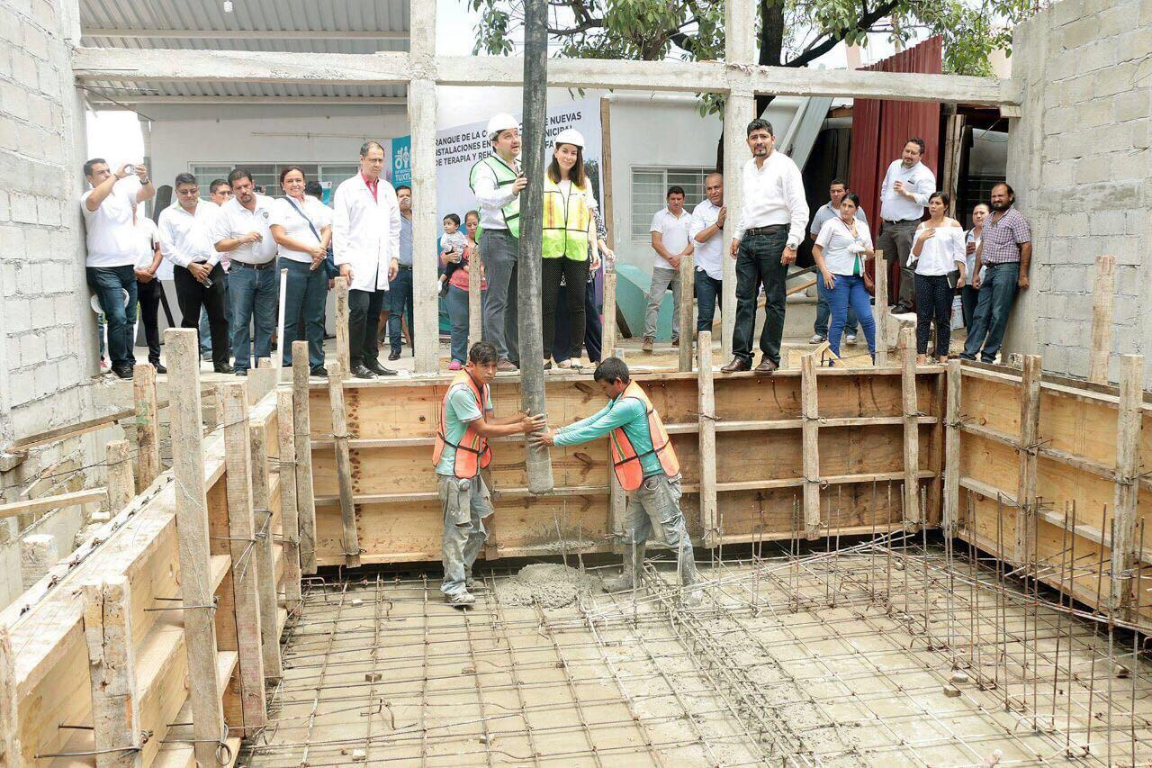 Da inicio la construcción de nuevas instalaciones en el Centro Municipal de Terapia y Rehabilitación Infantil del DIF Tuxtla