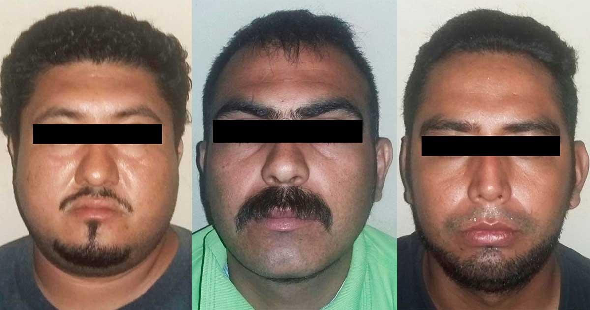 Asegura FGE a tres sujetos en posesión de mariguana y armas de fuego en Huehuetán