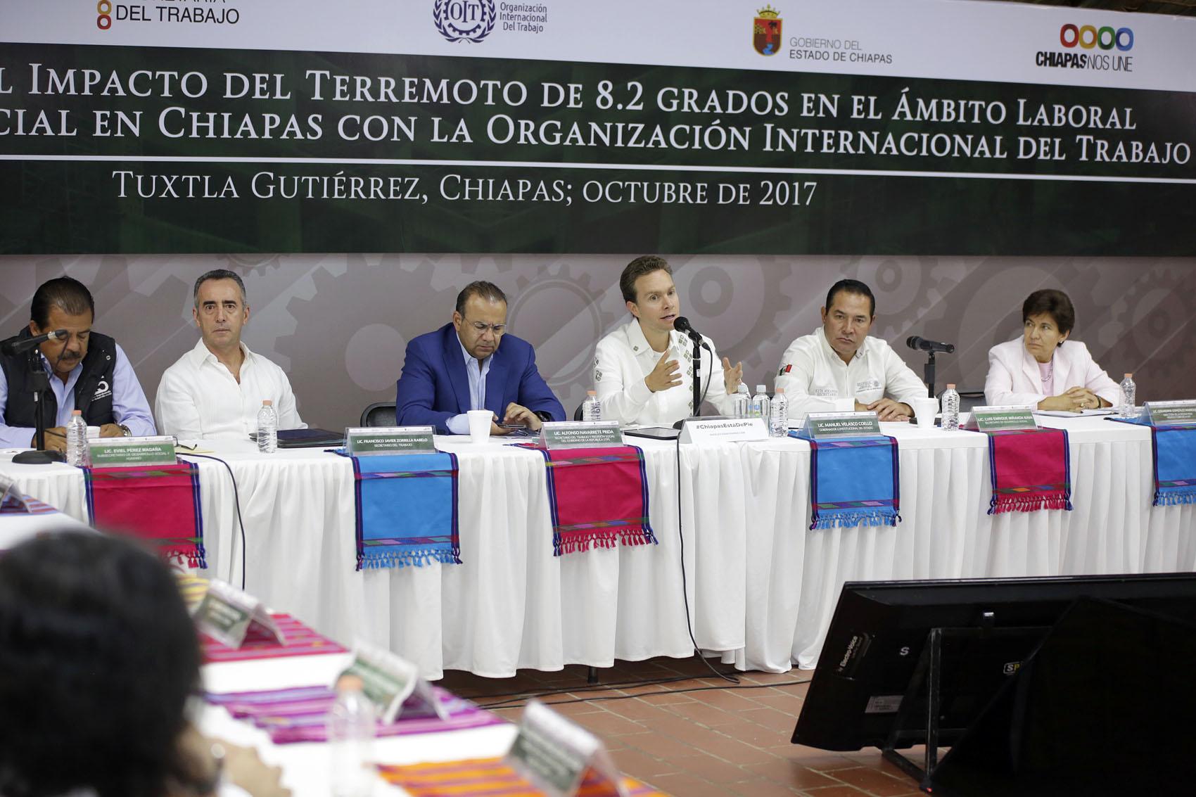 Junto a OIT, gobiernos Federal y Estatal identifican prioridades de empleo en Chiapas