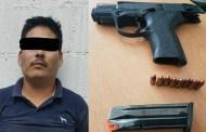 Policía Municipal de Tuxtla Gutiérrez asegura a sujeto por portación de arma de fuego