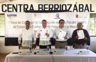 Convenio entre la FGE y Coparmex dará trabajo a egresados del CENTRA