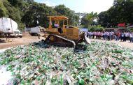 Con la destrucción de 40 mil botellas se contribuye a la protección de la salud de tuxtlecos: FCC