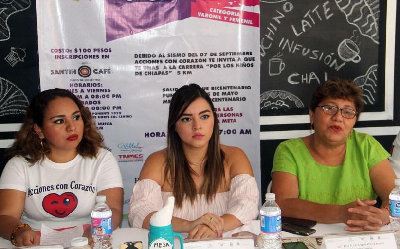 """Invitan a la carrera """"Por los niños de Chiapas"""""""