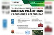"""Protección Civil de Chiapas y la ONU realizan """"Foro para la resiliencia ante sismos, buenas prácticas y lecciones aprendidas"""""""