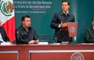 En reconstrucción no se mezclan recursos públicos y privados: Peña