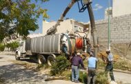 Realiza SMAPA mantenimiento a red sanitaria del Fraccionamiento Real del Bosque