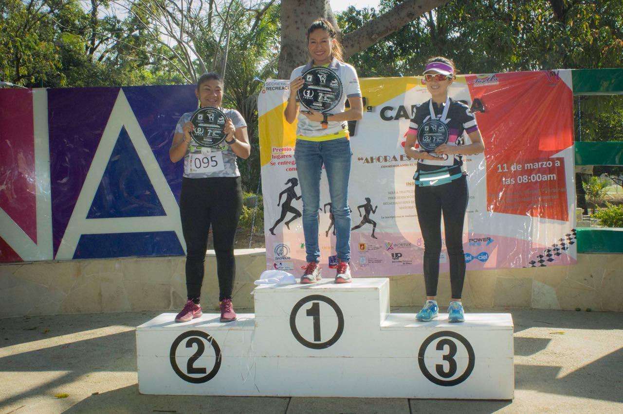 Corrieron por el  Día Internacional de la Mujer