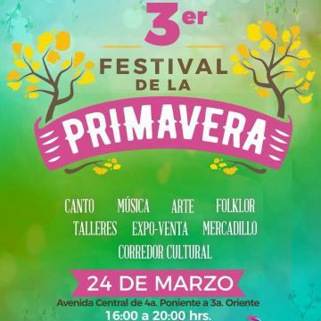 Invita Ayuntamiento de Tuxtla al Tercer Festival de la Primavera