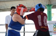 Selección Chiapas de Boxeo realiza tope con equipo poblano