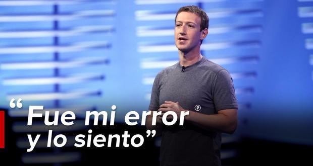 Zuckerberg pide disculpas por filtración de datos de usuarios de Facebook