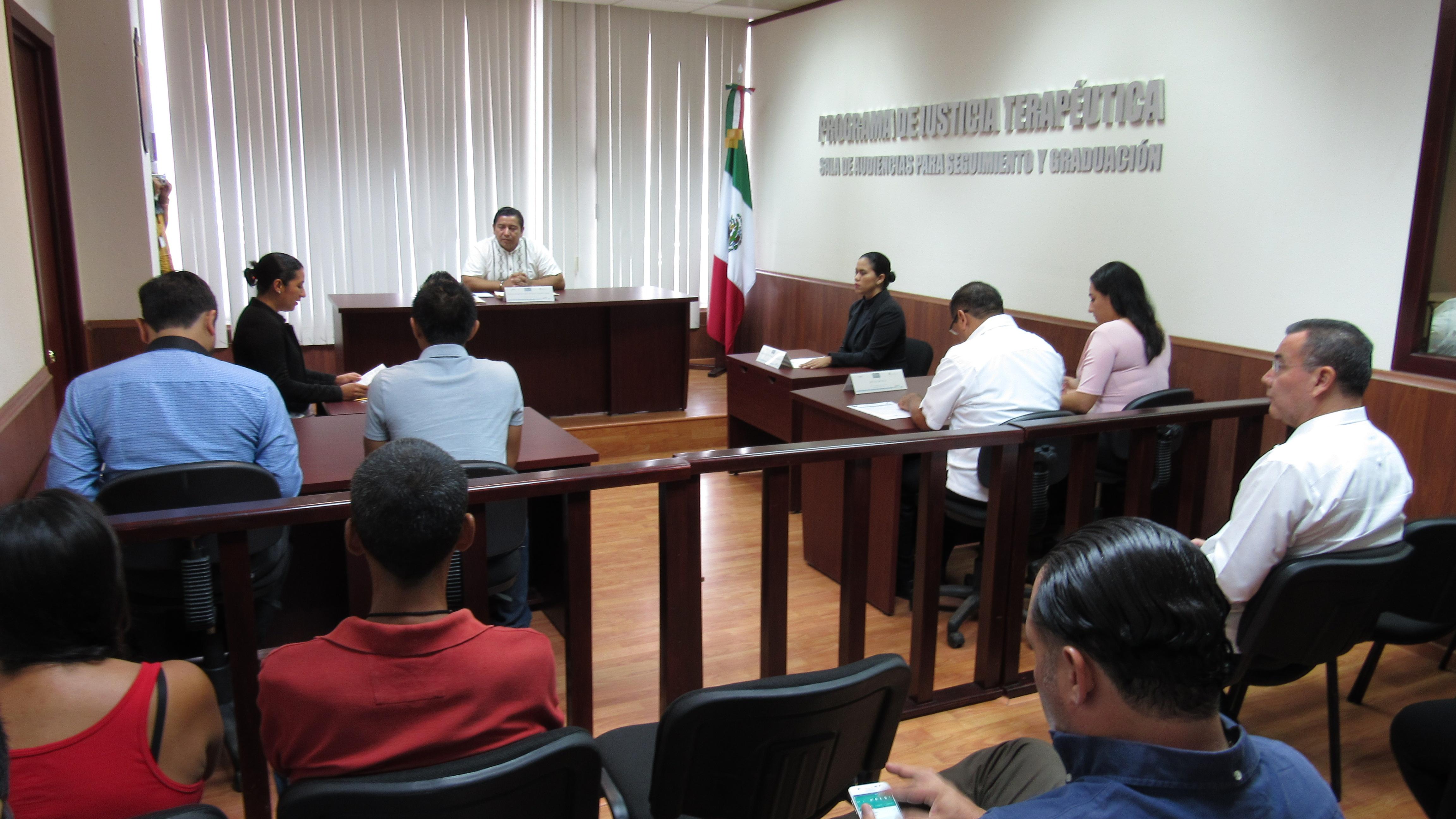 Celebra Chiapas primera audiencia con el modelo de justicia terapéutica