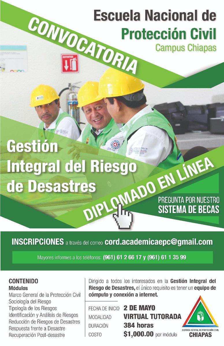 Se abre la Convocatoria para el Diplomado en Gestión Integral de Riesgos de Desastres
