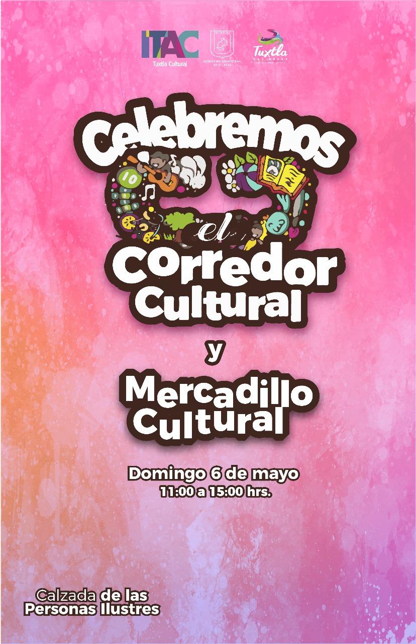 Invitan a familias tuxtlecas a Corredor y Mercadillo Cultural