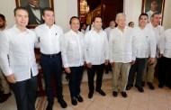 Obrador y Gobernadores del Sur evalúan proyecto Tren Maya