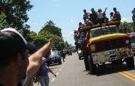 Quinta caravana centroamericana fue detenida por la Policía Federal