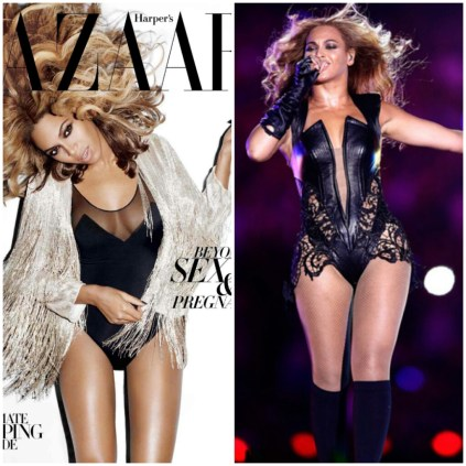 Beyonce's thighs were reduced on the cover of Harper's Bazaar