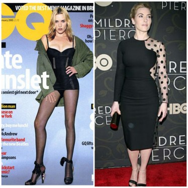 Kate Winslet had her curves removed and was obviously stretched out on the cover of GQ