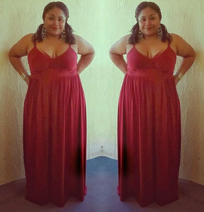 SWAK Sabrina Maxi in Merlot | Curves a la Mode