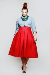 JIBRI Hot Pink High Waist Pleated Skirt