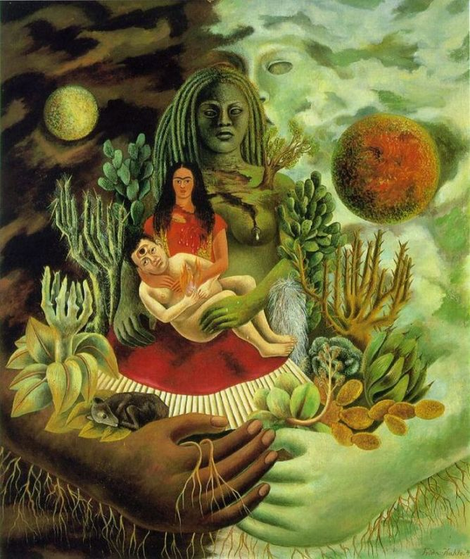 The Love Embrace of the Universe, the Earth (Mexico), Myself, Diego and Señor Xólotl. 1949