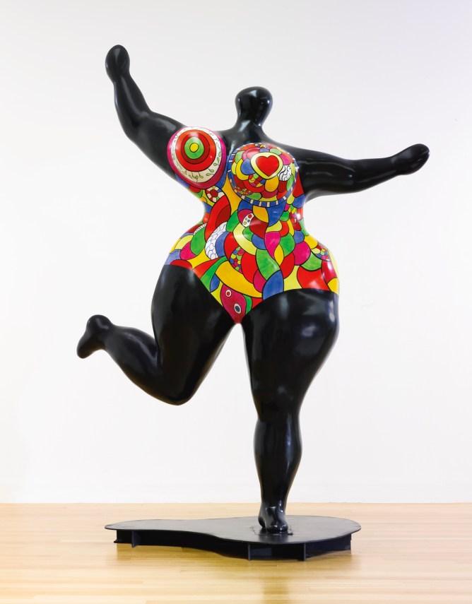 Standing Noir Nana by Niki de Saint Phalle (Photo via Sothebys.com)