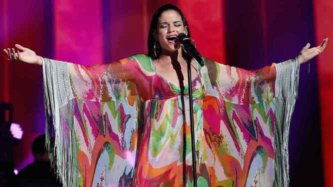 MIAMI, FL - NOVEMBER 07: Recording artist Natalia Jimenez performs onstage at iHeartRadio Fiesta Latina presented by Sprint at American Airlines Arena on November 7, 2015 in Miami, Florida. (Photo: Getty Images for iHeartMedia)