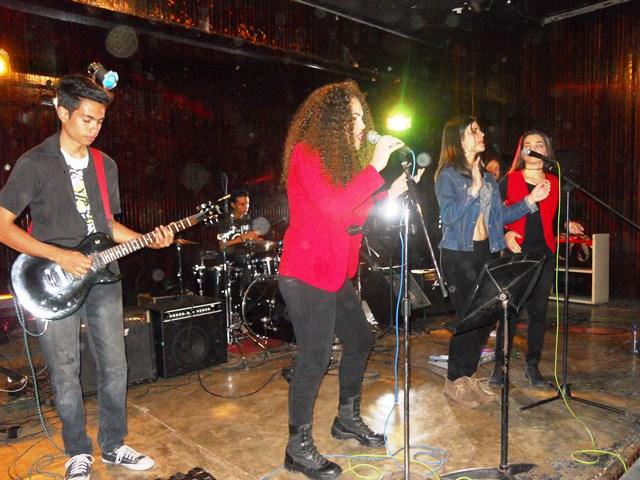 Durante el concierto las chicas hicieron gala de sus cualidades vocales