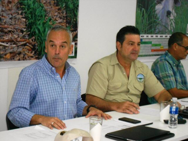 Aquiles Hopkins y Celso Fantinel, presidente y vicepresidente de Fedeagro.