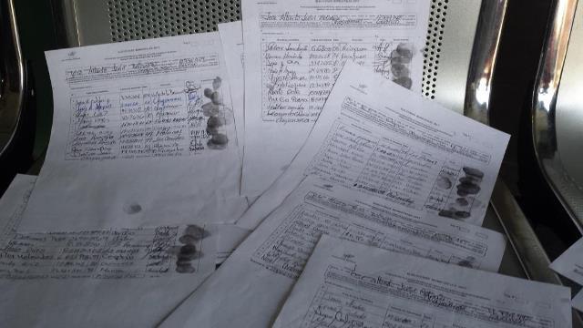 Copias de los documentos entregados al CNE