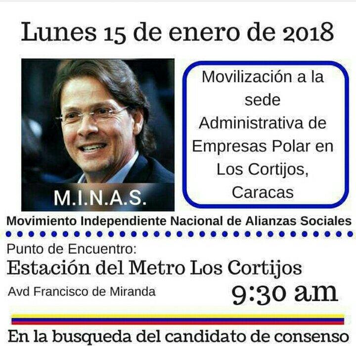 La marcha llegara hasta la sede de Polar en Los Cortijo donde solicitaran a Lorenzo Mendoza se postule a las presidenciales del 2018 en Venezuela