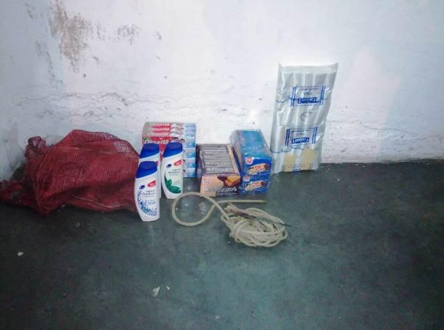 Objetos hurtados en el supermercado