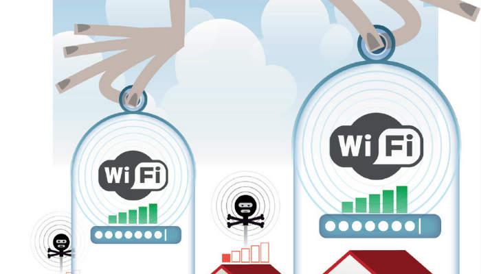 El aparato router debe encontrarse en un sitio alto y no en el suelo