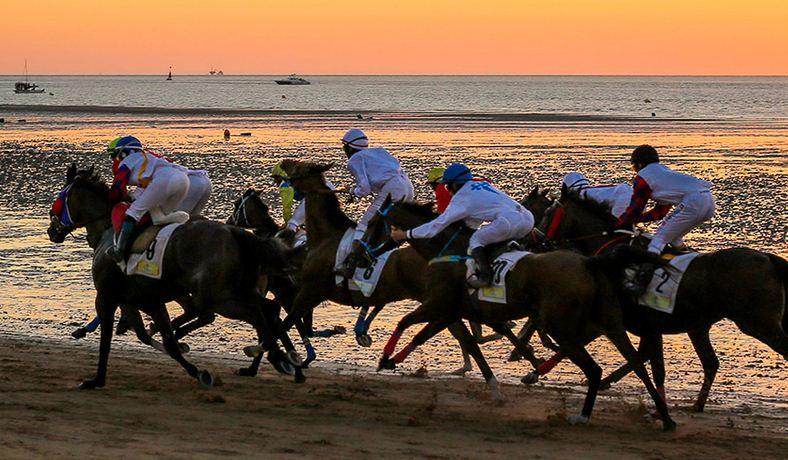 San Lúcar de Barrameda (Cádiz) carreras de puro linaje