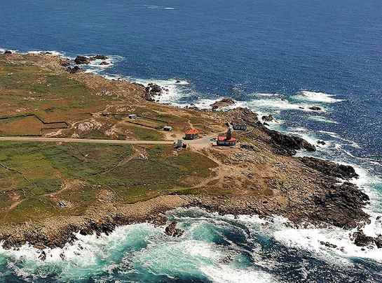 Faro de Corrubedo en Galicia