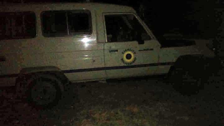 Camioneta con insignia del ejercito venezolano utilizado por los militares.