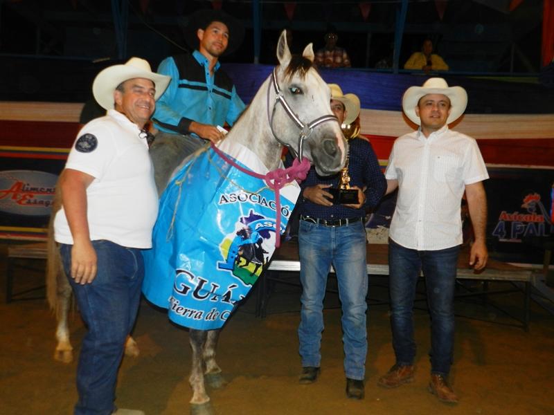 Juan Delgado de Guárico en la yegua Aristócrata K, el mejor equino de la Copa Feveco 2019