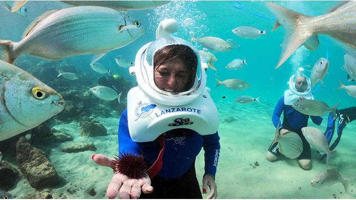 Experiencia submarina, Sea Trek en Las Canarias.