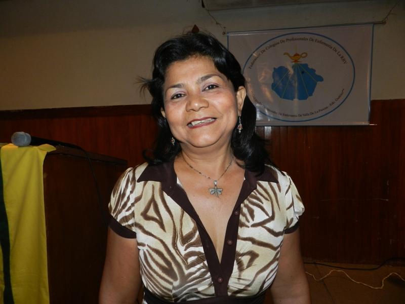 Neillyvi Padilla, vicepresidenta Colegio de Profesionales de Enfermeria Valle de la Pascua