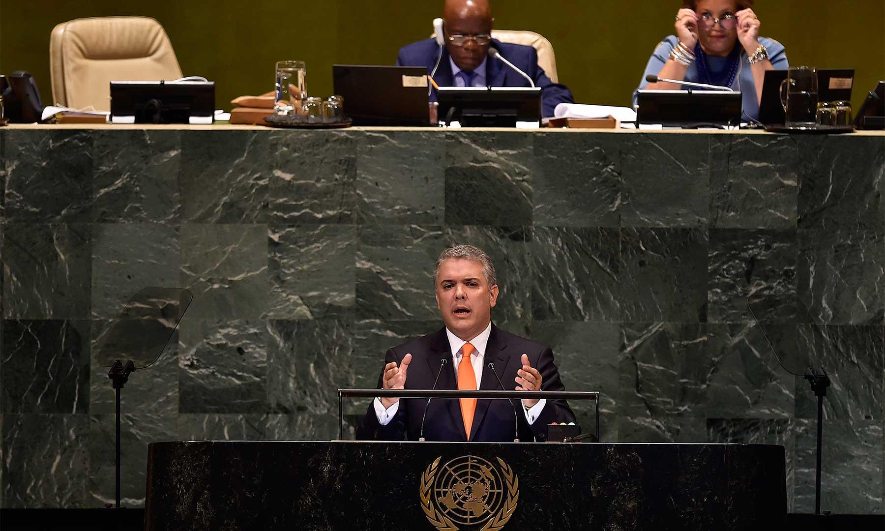 No hay país que esté exento de la amenaza del narcotráfico, por lo cual este flagelo debe enfrentarse como un problema global: Presidente Duque