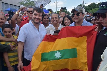Con inauguración de obras, Jaime Pumarejo empieza empalme con actual Administración