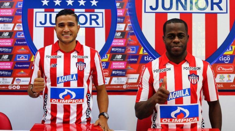 Larry Vásquez y Carmelo Valencia, primeros refuerzos para Junior 2020