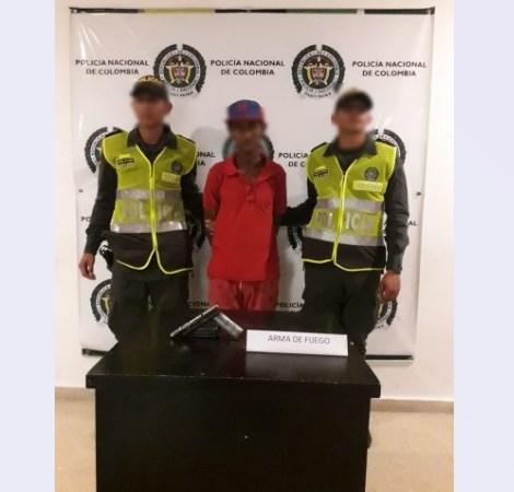 La Policía capturó a una persona por el delito de porte ilegal de armas en el Atlántico