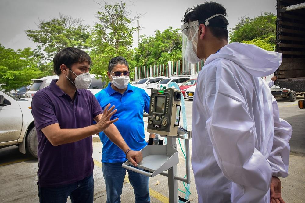 Al recibir 25 nuevos ventiladores, alcalde Jaime Pumarejo reitera llamado al autocuidado