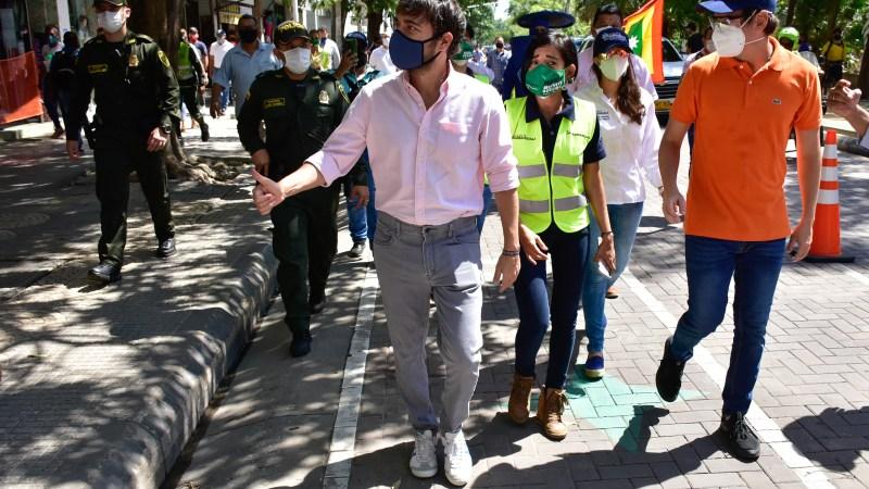 """""""Hoy los barranquilleros cuentan con más espacio digno para hacer sus compras y guardar el distanciamiento físico"""": alcalde Pumarejo"""