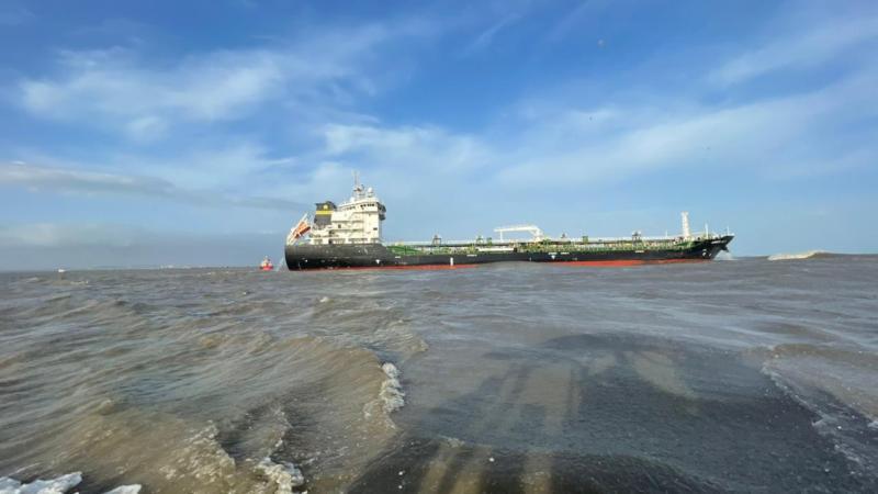 Comunicado de prensa: con relación al buque Amber Bay, de bandera de Hong  Kong, varado en el sector de Bocas de Ceniza