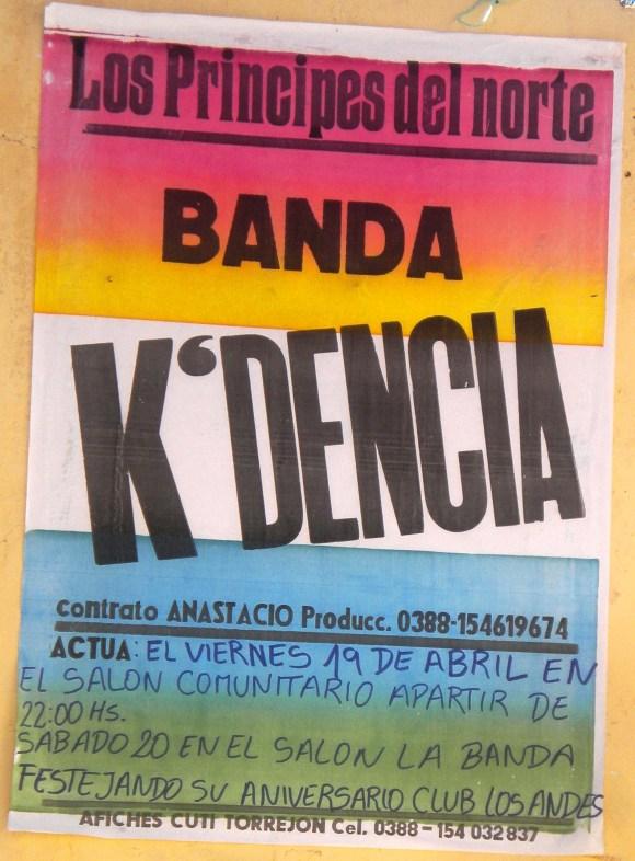 Afiche de invitación al baile