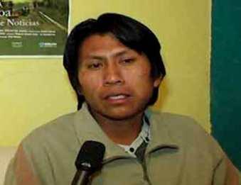 Erbis Díaz, vocero de la comunidad wichi de La Puntana